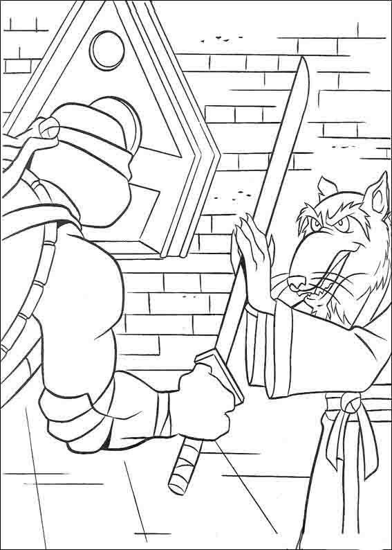 Teenage Mutant Ninja Turtles Tegninger til Farvelægning 39 ...