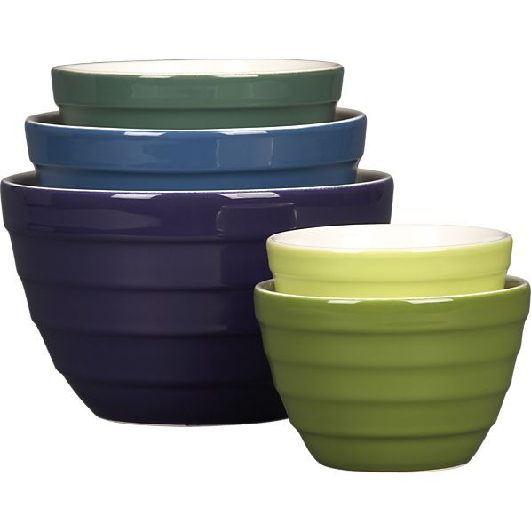 5 Piece Parker 5 5 9 5 Nesting Bowl Set In Mixing Bowls Crate And Barrel Crate And Barrel Bowl Mixing Bowls
