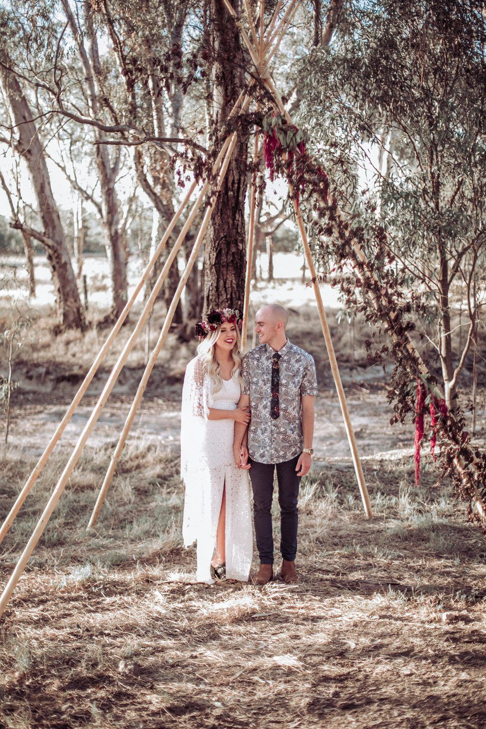 Whimsical forest wedding with a bit of rebellion wedding blogs