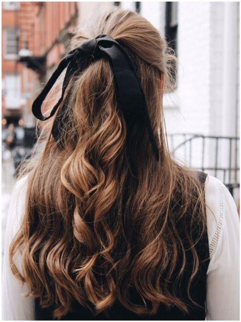 Hair Bow Long Hair Styles Hair Ribbons Hair Styles