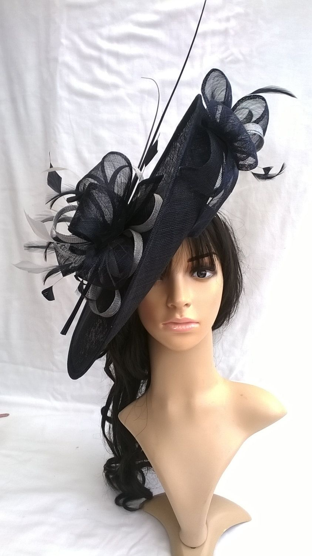 cd69f0e3983 Stunning Sinamay Fascinator Hat on a Headband..Hatinator by  SpecialDayfascinator on Etsy
