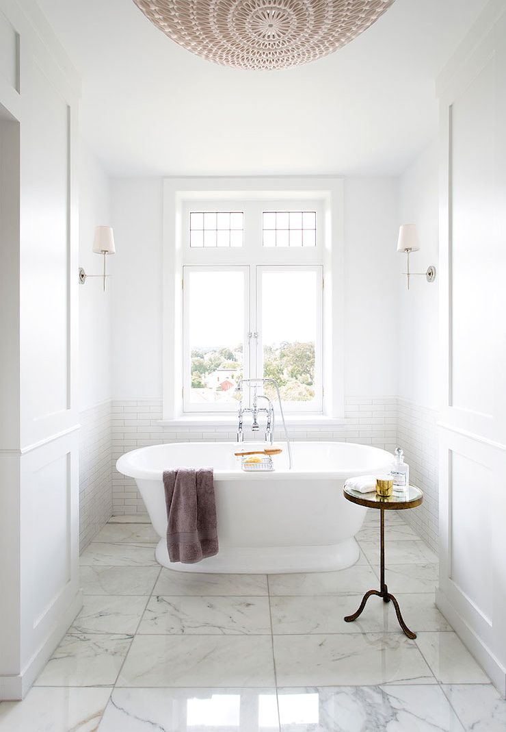 cool white marble accented bathroom debra dustjacket soaking rh pinterest com