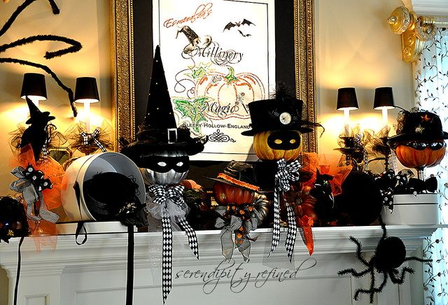 Top 50 Halloween Mantels Of 2013 Pinterest Mantels, Halloween