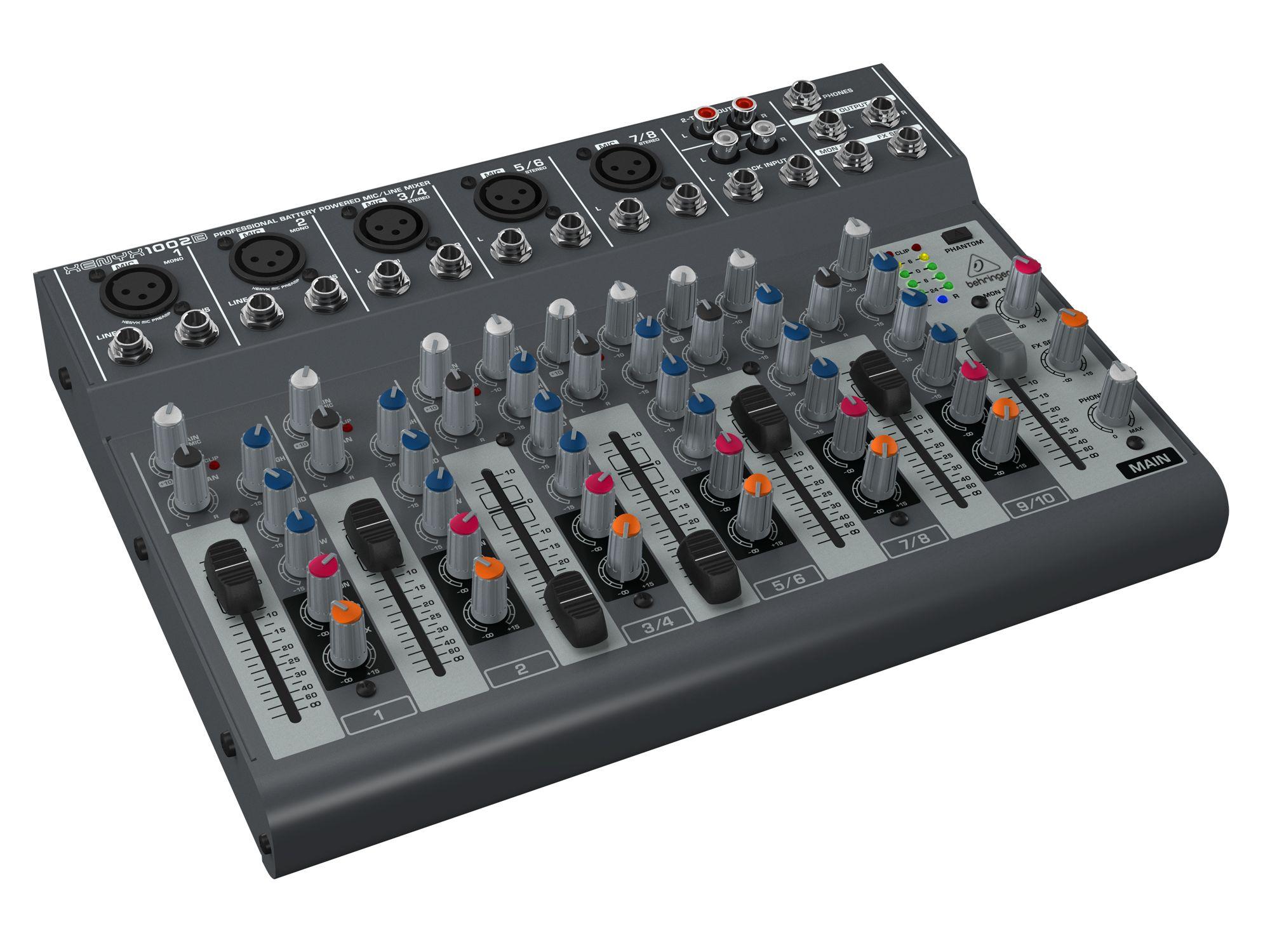 Behringer Xenyx 1002B 10 Hz Behringer X1002B Mischpulte Hier klicken
