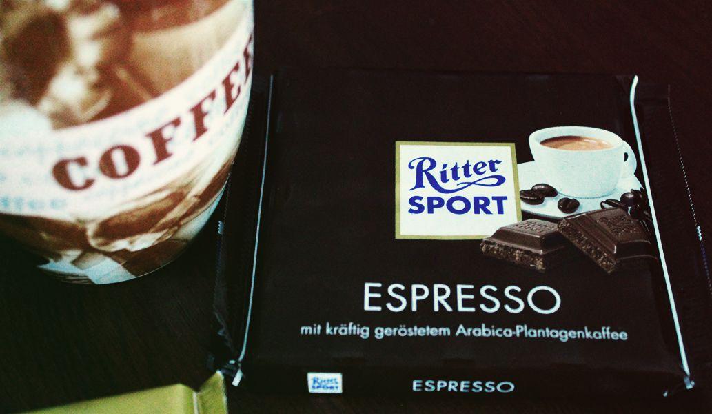 Ritter Sport Espresso mit kräftig geröstetem Arabica-Plantagenkaffee