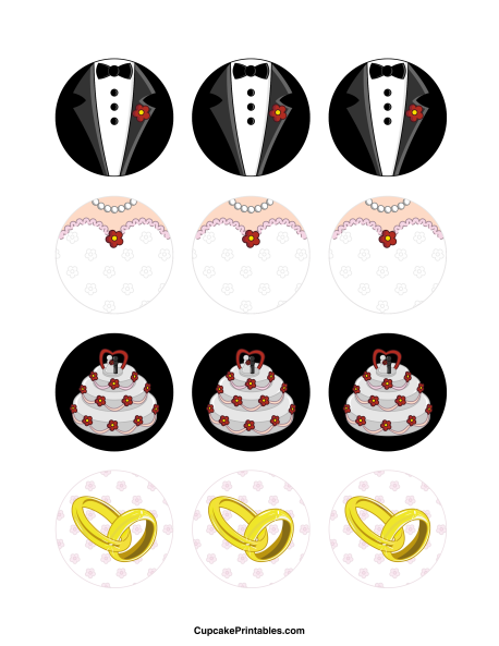 Wedding cupcake toppers use the circles for cupcakes party favor wedding cupcake toppers use the circles for cupcakes party favor tags and more free printable pdf download at junglespirit Choice Image