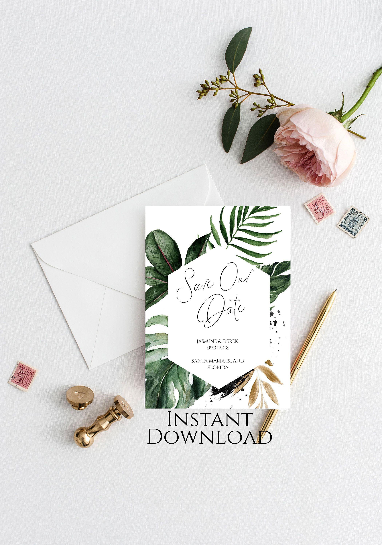 Date Invitation Printable