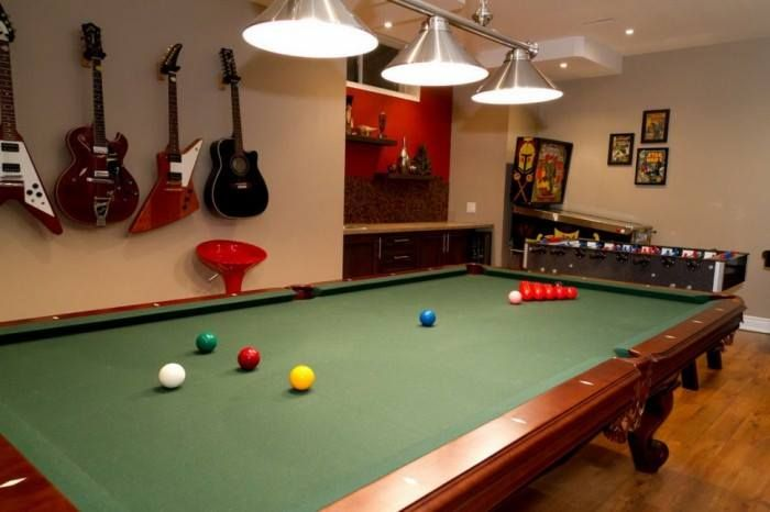 game rooms such as this are a popular room option for many basements rh pinterest com