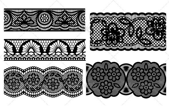 Lace Decorative Seamless Patterns Vector Eps Swirl Set Available Here Https Graphicriver Net Item Lace Garter Tattoos Lace Tattoo Seamless Patterns