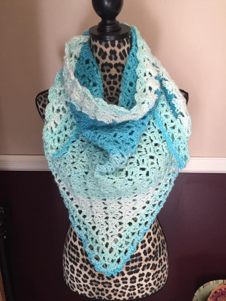fortune\'s shawl by Moogly done in Caron Cakes | crochet shawls/wraps ...