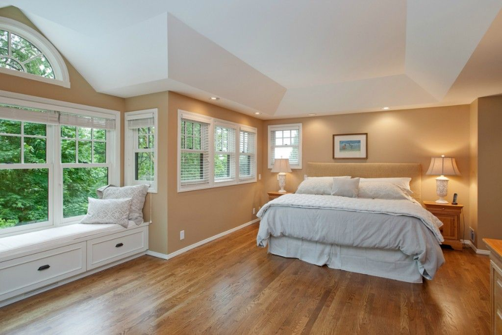 Master bedroom with window seat dream master