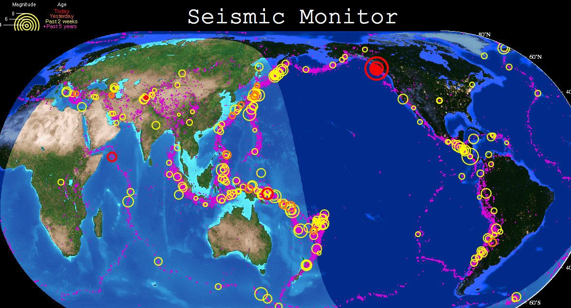 Very cool map of earthquakes around the world mapas pinterest very cool map of earthquakes around the world gumiabroncs Choice Image