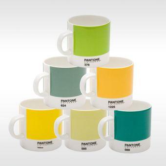 Pantone espressomok in speciale kleurset van 6 stuks