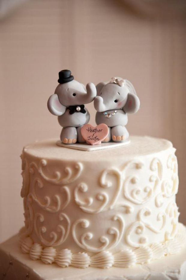 21 Creative Wedding Cake Toppers For The Romantics Weddingsonline Animal Cake Toppers Wedding Wedding Cake Toppers Wedding Cake Topper Elephant