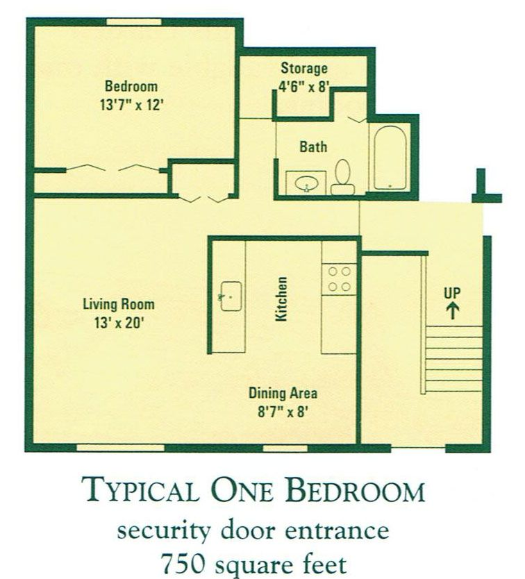 3 Distinctly Themed Apartments Under 800 Square Feet With Floor Plans: How Big Is 750 Square Feet Apartment