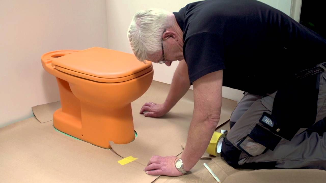 How To Install Laminate Around A Toilet And Other Round Shapes Laminate Flooring Bathroom Laminate Flooring Installing Laminate Flooring