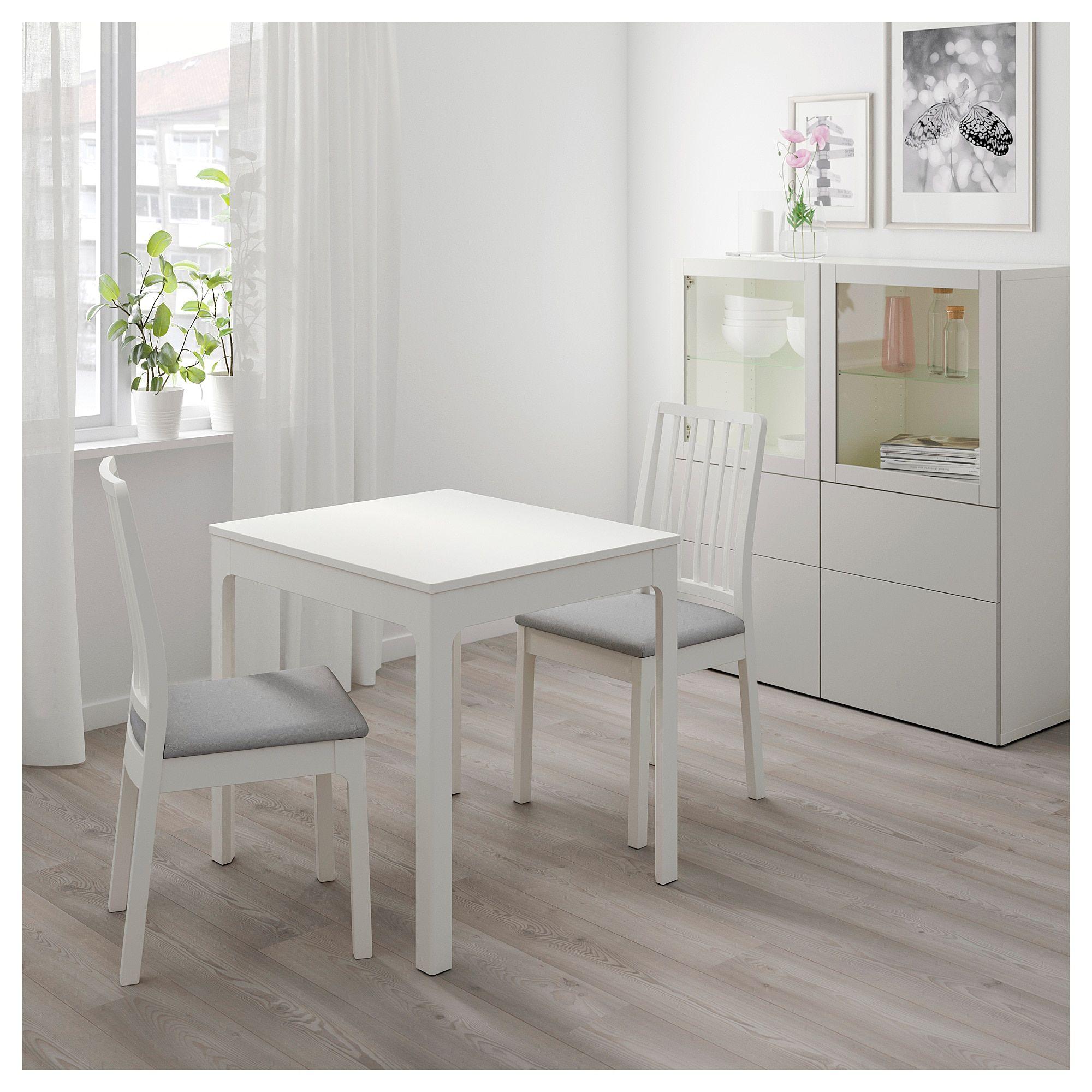 Table Extensible Blanc 80 120x70 Cm Ekedalen Table A