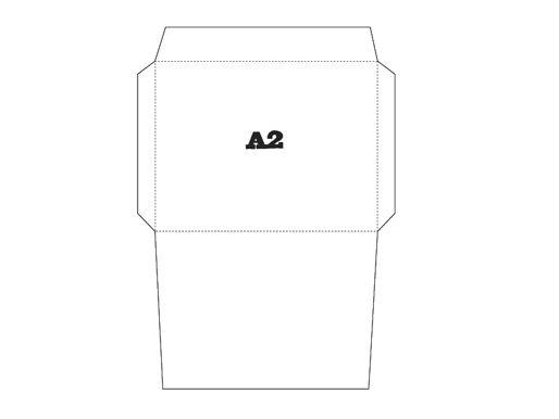 Free Printable Envelope Template - A2 ⎙ PRINT me for free - a2 envelope template