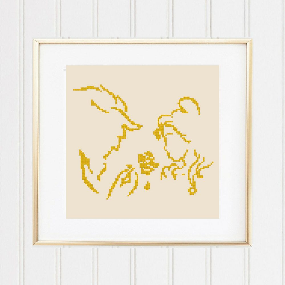 Beauty And The Beast Novel Pdf: The Beauty And The Beast Silhouette Cross Stitch Pattern