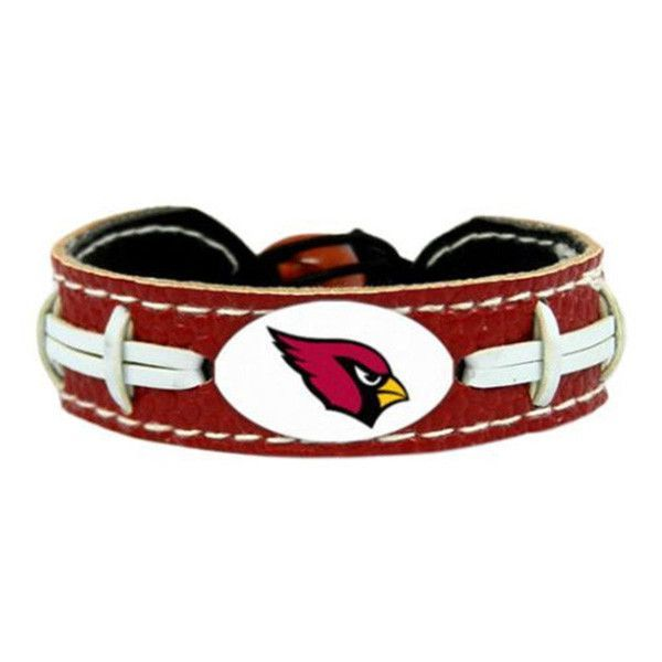 Arizona Cardinals Leather Football Bracelet