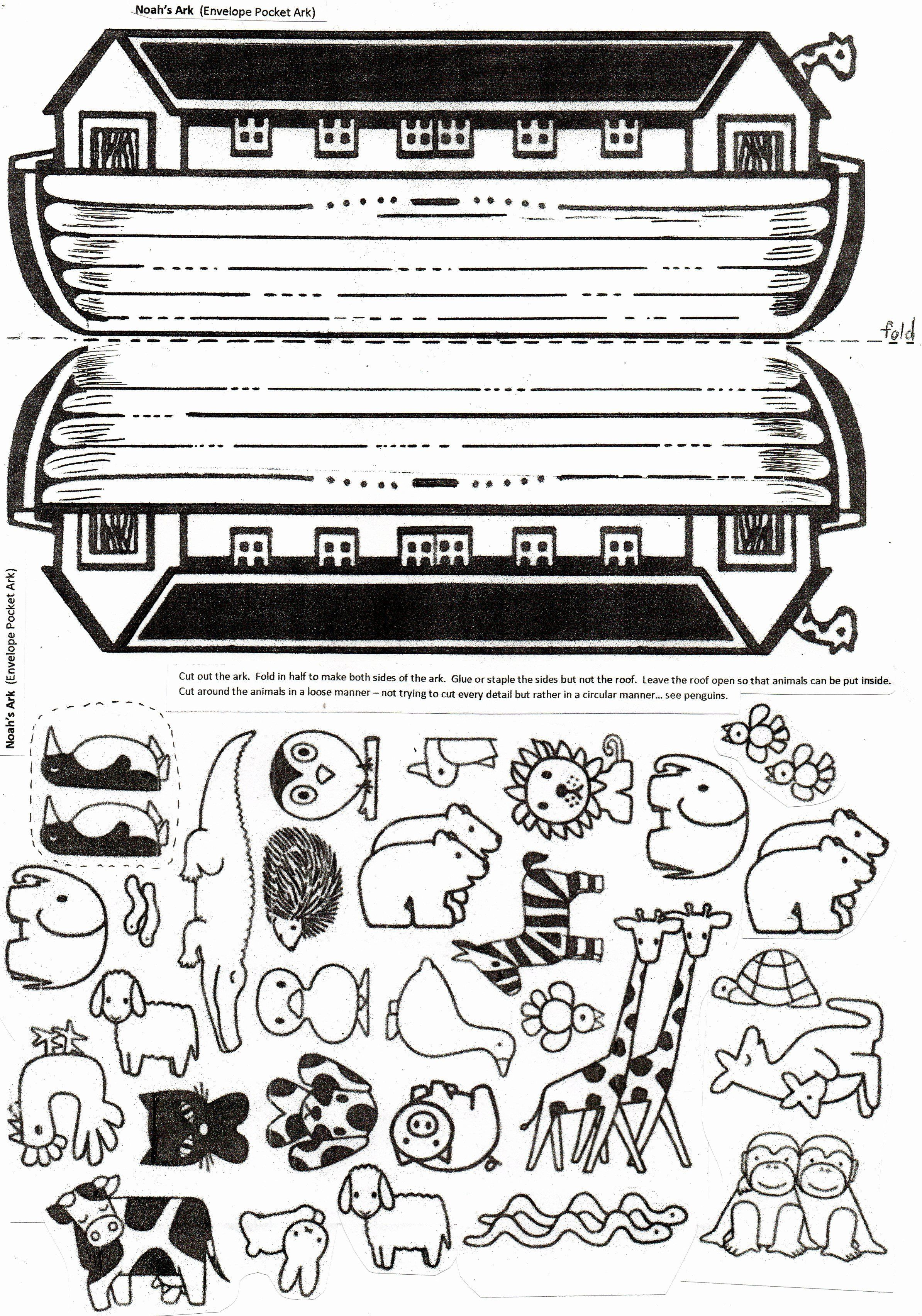 Animal Coloring Pages For Noah S Ark In 2020 Sunday School