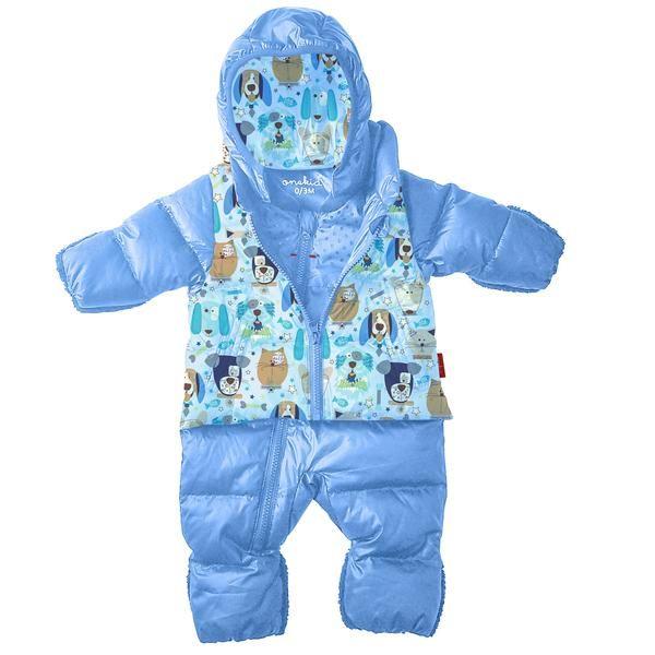 72e2dee903de THE ROAD COAT® SNOW SUIT - Lt Blue / Puppy Print - Onekid   Twin ...