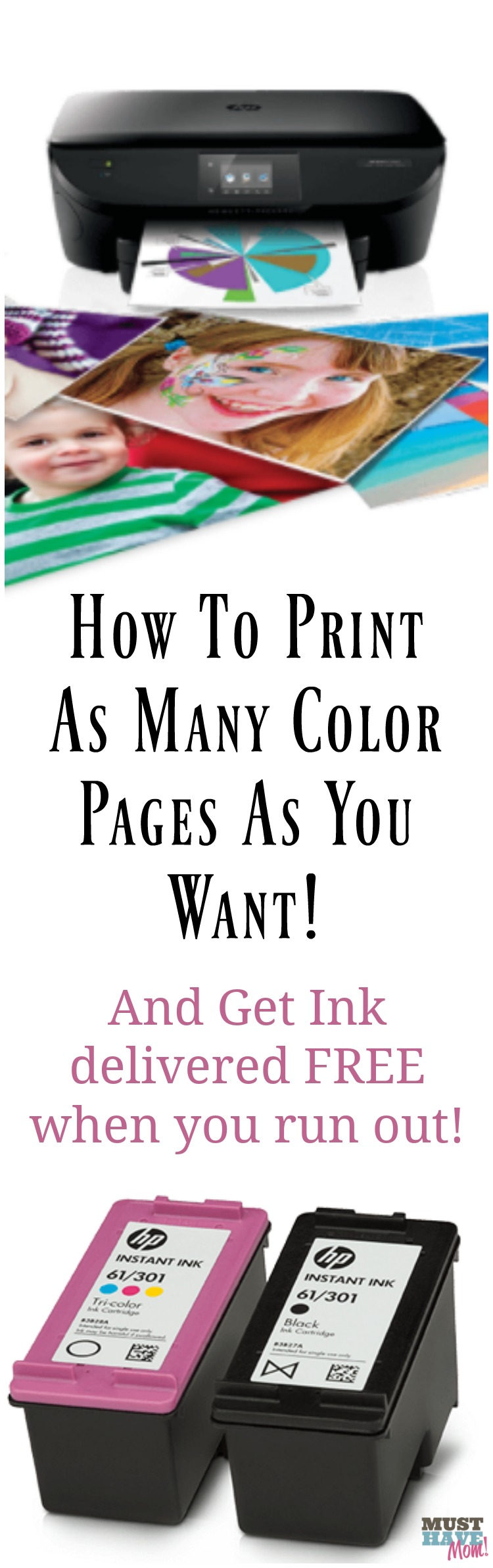 See the secret to getting as much ink as you need! I'll show you how to get authentic HP ink delivered free whenever you need it.