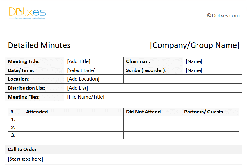 Minutes Word Template Simple Meetingminutestemplateinadescriptiveformatfeaturedimage .