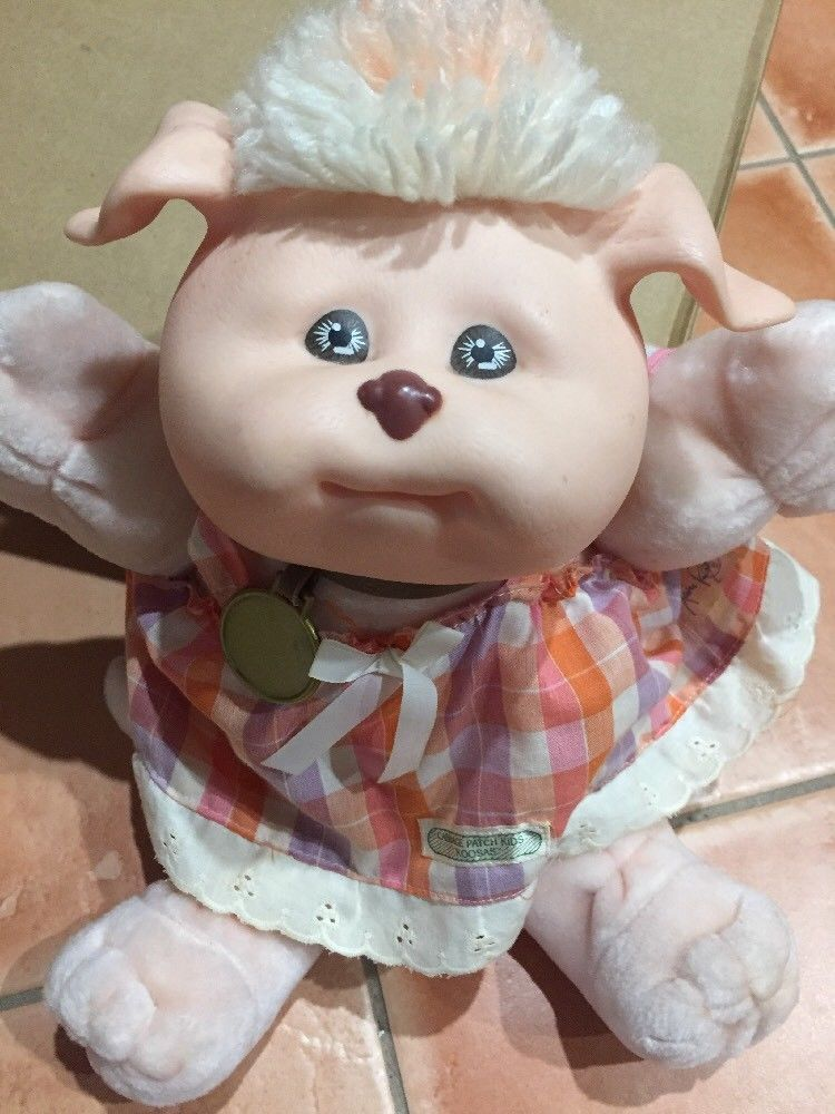 Vintage Cabbage Patch Doll Koosas Pig Dated 1983 Rare Vintage Cabbage Patch Dolls Cabbage Patch Dolls Cabbage Patch Kids