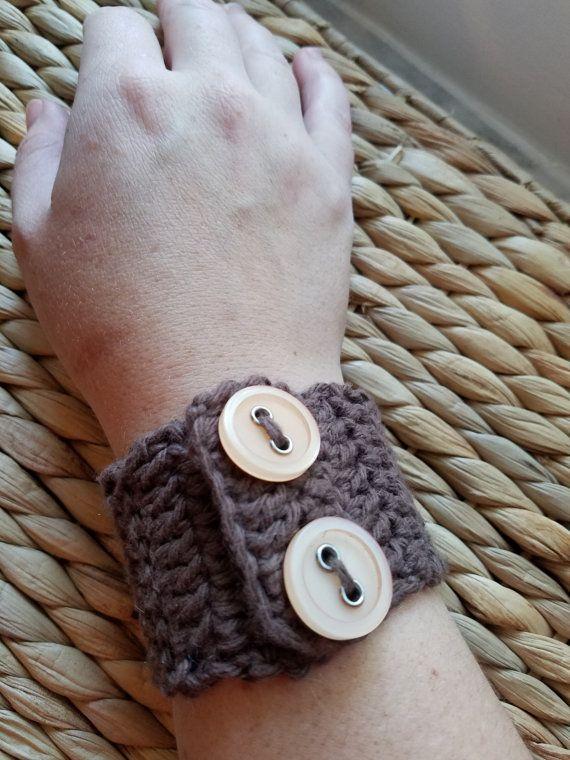 Crocheted Cuff Bracelet Free Shipping by Sweetbrooke on Etsy
