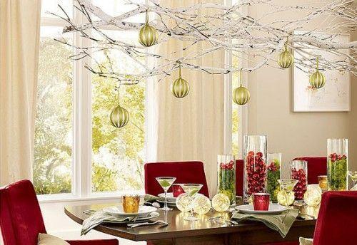 christmas branch chandelier