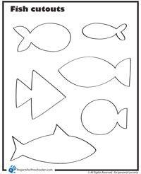 Fish Cut Outs Skola Fndur Pinterest Fish Fish Template And