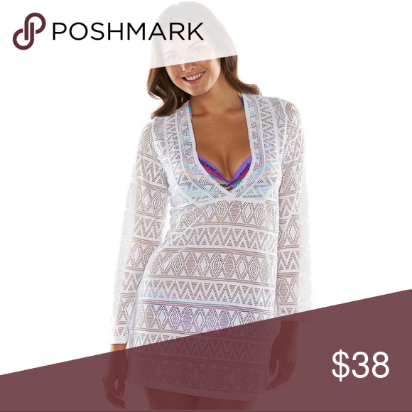 02eb735c0c APT 9 WHITE CROCHET SWIMSUIT COVERUP Sweeten your summer style with this  women s Apt. 9