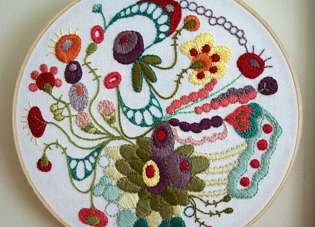 doodle embroidery -