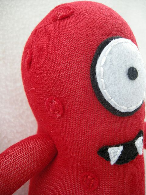 Muno Sock Creature by Munkybuns Sock Creatures, via Flickr