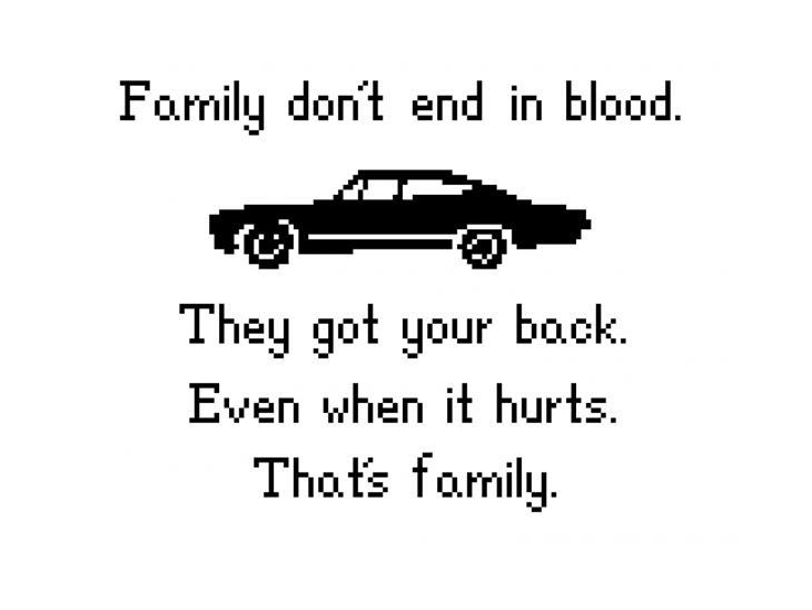 Family Don't End in Blood from Supernatural with Impala