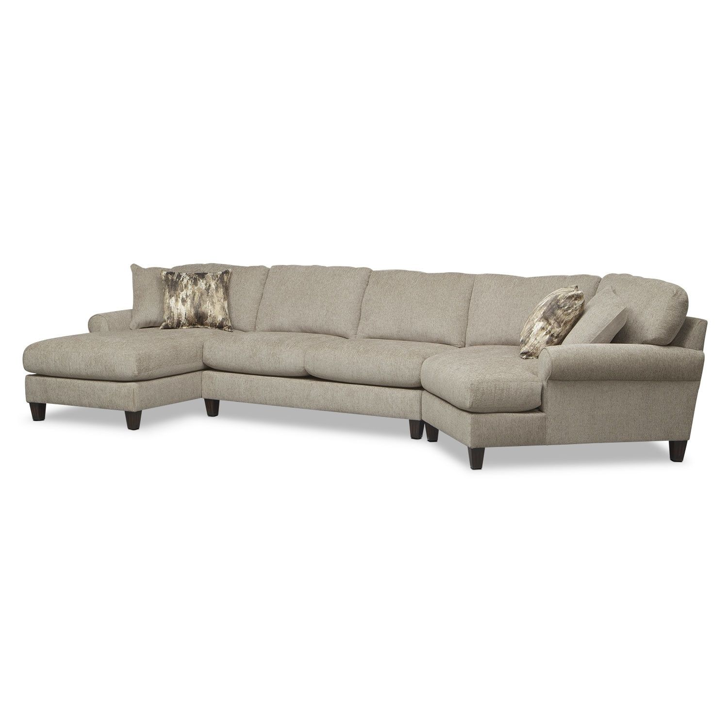 Best Karma 3 Piece Sectional With Right Facing Cuddler And Left 400 x 300
