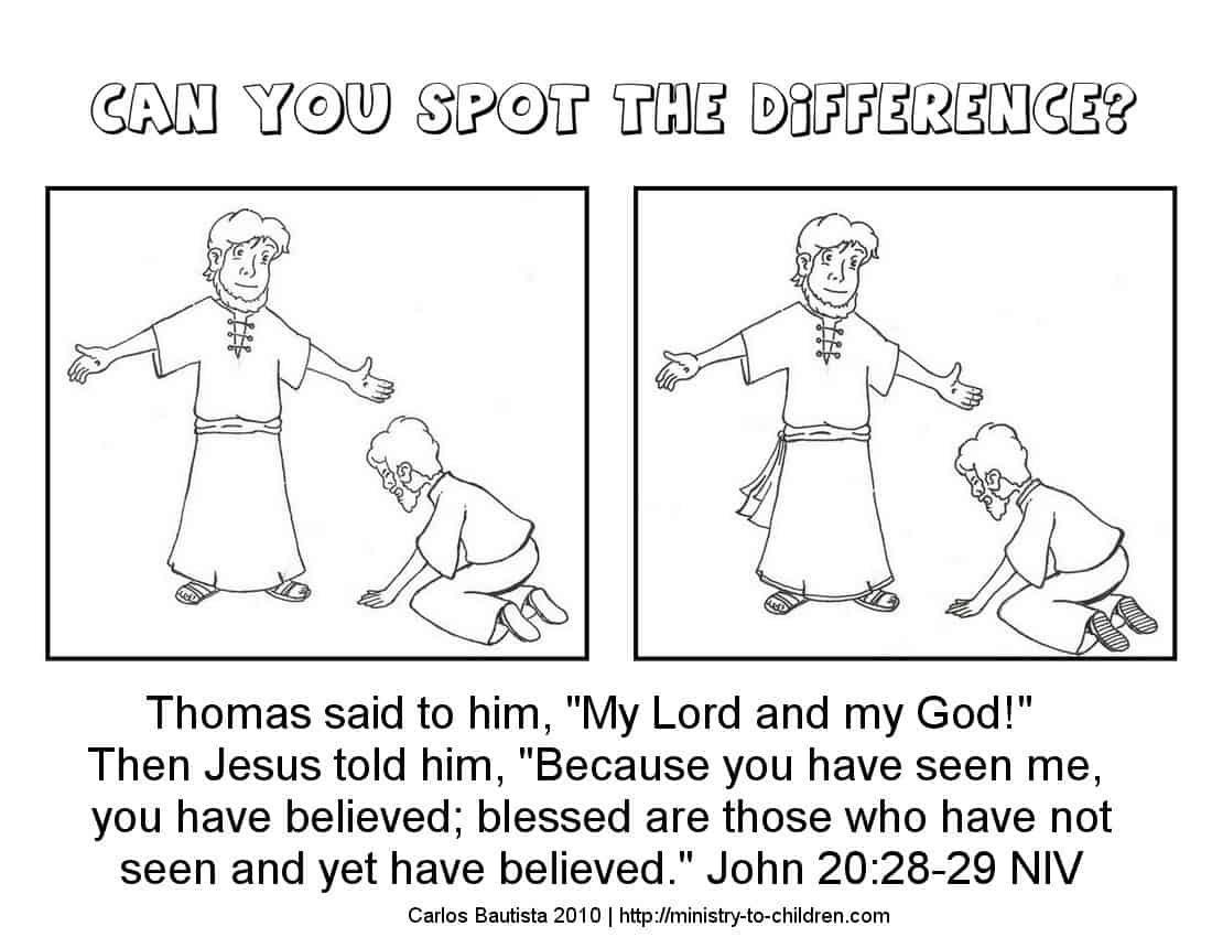 Children S Bible Crafts Doubting Thomas