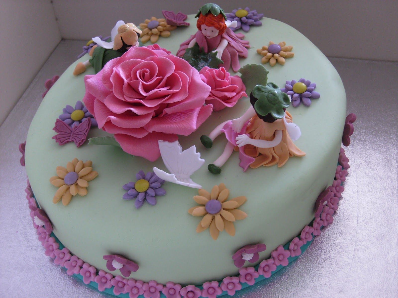 Flower Cakes Flower Fairy Birthday Cake Party and Madiera Cake