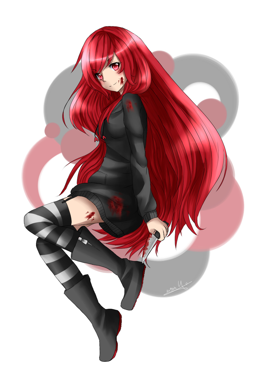 anime creepypasta cherry Comission Nasuki100 by