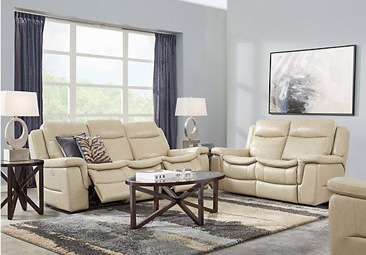 picture of milano stone 3 pc leather living room from leather living rh pinterest com