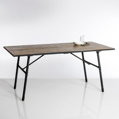 Table de jardin pliante bois et métal Sohan, La Redoute | HOME ...