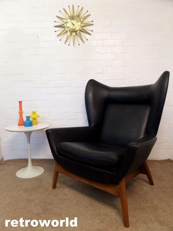 60s 70s parker knoll mid century vintage wingback armchair available rh pinterest com