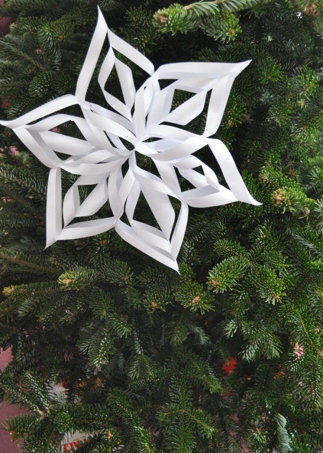 weihnachtsdeko selber basteln 3d schneeflocke weihnachtsbaumschmuck weihnachtsdekoration. Black Bedroom Furniture Sets. Home Design Ideas