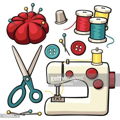 Textura Con Articulos Maquinas De Coser Dibujo El Arte De Coser Material De Costura