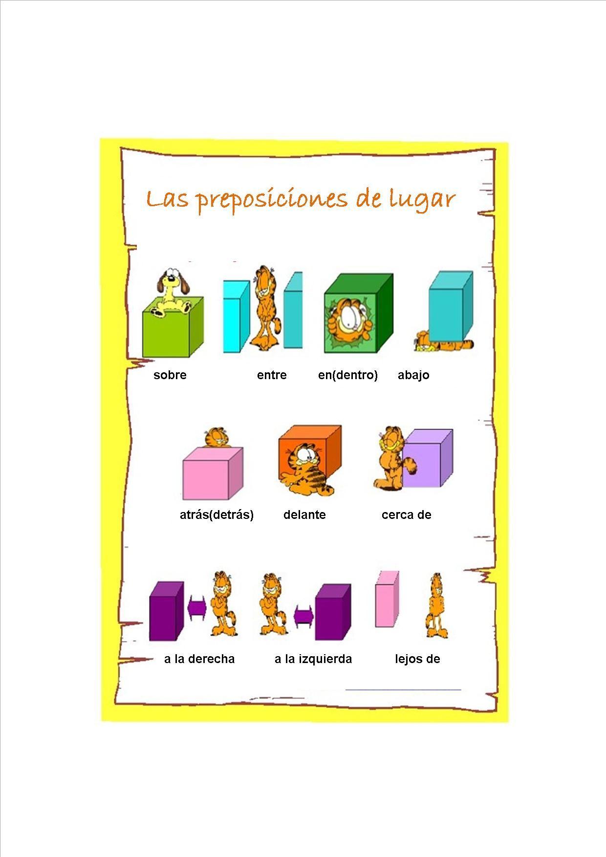 Escribe La Preposicin Correcta Gratuito Ele Worksheets Spanish