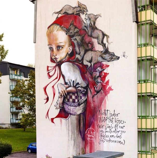 """""""Once Upon a Time"""" by Herakut for WallCome - Schmalkalden, Germany - September, 2014 (LP)"""