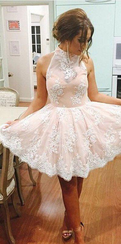 short homecoming dress,lace Prom Dress,cute prom dress,party dress for teens,new graduation dress,PD00330