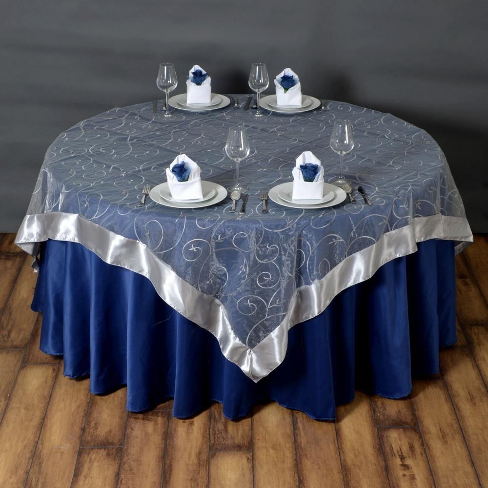 72 overlay embroider silver tablecloths factory rh pinterest com