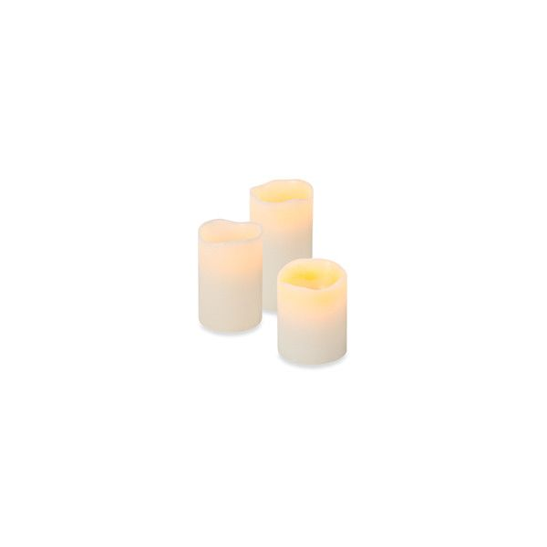 Everlasting Glow Flameless LED Melted Edge Pillar Candle - Bisque -... ($7.99) ❤ liked on Polyvore featuring home, home decor, candles & candleholders, candles, led candles, flameless led candles, flameless led pillar candles, led pillar candles and flameless candles